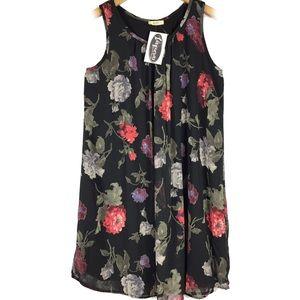 NWT Kori America floral shift babydoll dress